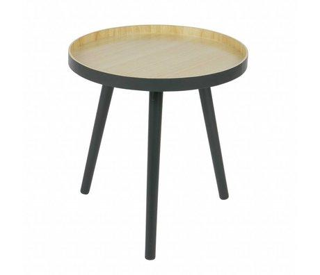 LEF collections Side table Sasha anthracite wood 41x41cm