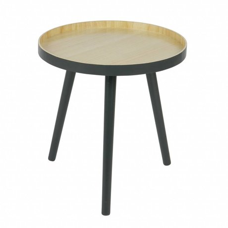 LEF collections Table d'appoint Sasha anthracite bois 41x41cm