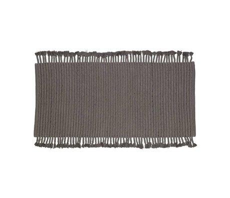 LEF collections Tappeto di visone cotone antracite 170x240