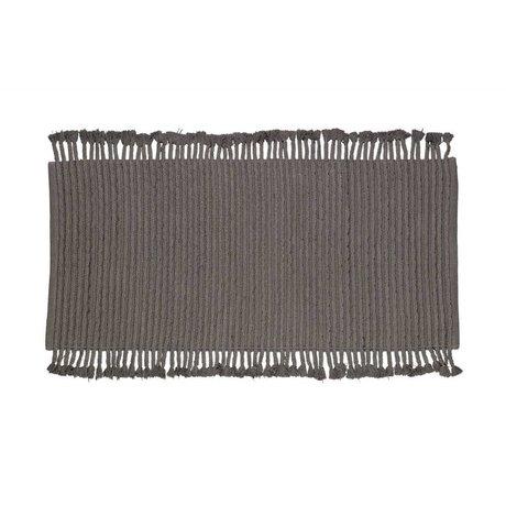 LEF collections Tapis de vison en coton anthracite 170x240
