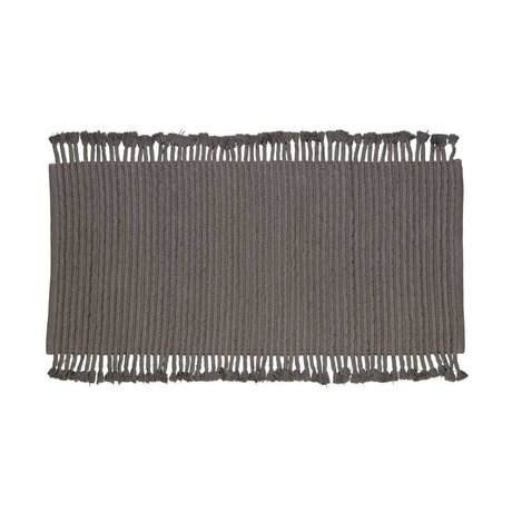 LEF collections Tapis mini tapis anthracite-gris coton 170x240cm