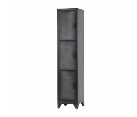 LEF collections Casillero Cas 3 puertas metal negro.