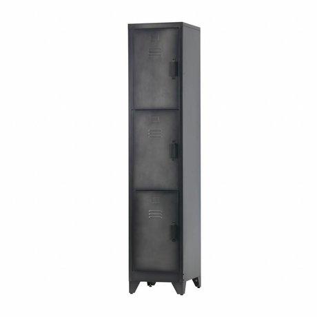 LEF collections Cas locker 3 porte metallo nero