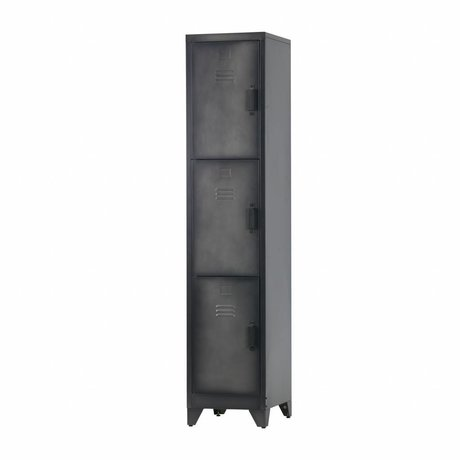 LEF collections Casillero Cas 3 puertas metal negro.