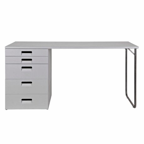 vtwonen Desk Store gray wood 75x150x60cm