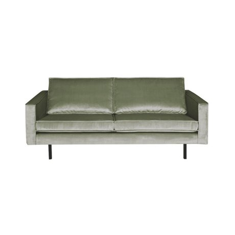BePureHome Sofa Rodeo 2.5-seater khaki-green velvet 190x86x85cm