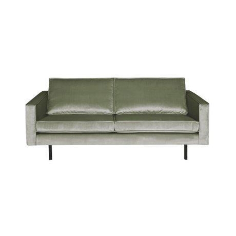 BePureHome Sofa Rodeo 2,5-Sitzer khaki-grün Samt 190x86x85cm