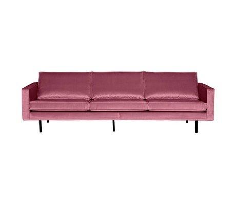 BePureHome Sofa Rodeo 3-Sitzer rosa Samt 85x277x86cm