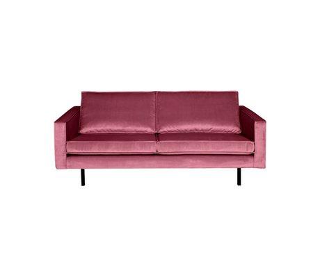 BePureHome Sofa Rodeo 2,5-Sitzer rosa Samt 190x86x85cm