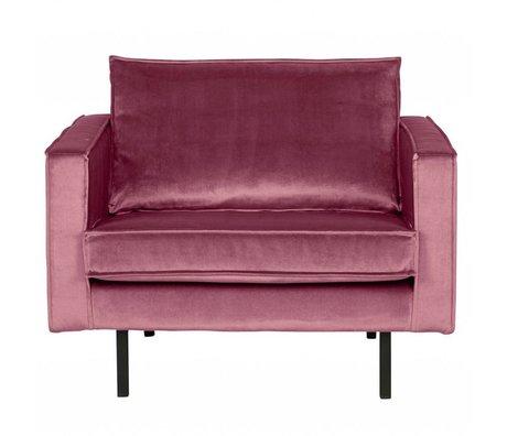 BePureHome Poltrona Rodeo in velluto rosa 105x86x85cm