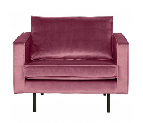 BePureHome Sessel Rodeo rosa Samt 105x86x85cm