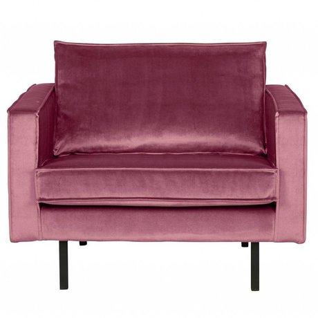 BePureHome Lænestol Rodeo Pink Velvet 105x86x85cm