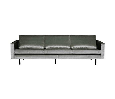 BePureHome Sofa Rodeo 3-seater mid-gray velvet 85x277x86cm