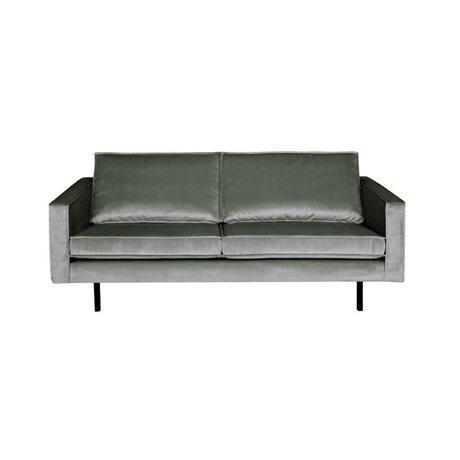 BePureHome Sofa Rodeo 2,5-seater mid gray velvet velvet 190x86x85cm