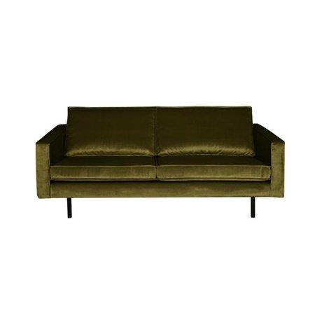 BePureHome Sofa Rodeo 2.5-seater olive green velvet velvet 190x86x85cm