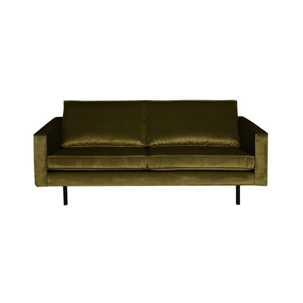 Sofa Rodeo 2.5-seater olive green velvet velvet 190x86x85cm