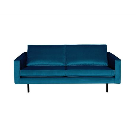 BePureHome Sofa Rodeo 2.5 seater blue velvet 190x86x85cm