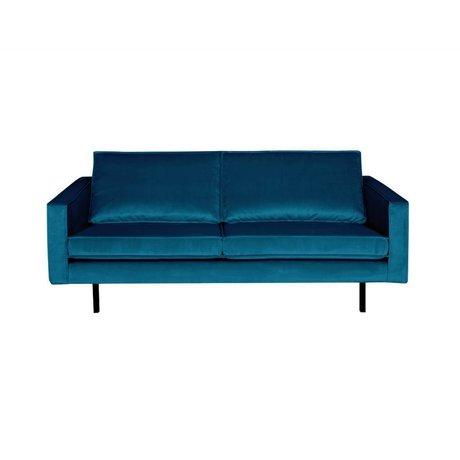 BePureHome Sofa Rodeo 2,5-Sitzer blau Samt 190x86x85cm
