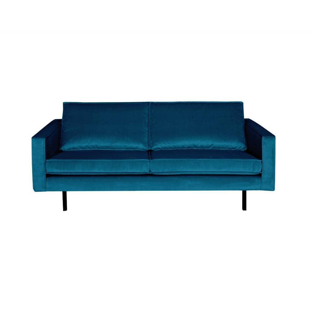 Sofa Rodeo 2.5 seater blue velvet 190x86x85cm
