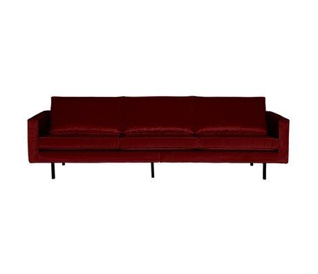 BePureHome Sofa Rodeo 3 seater red velvet 85x277x86cm