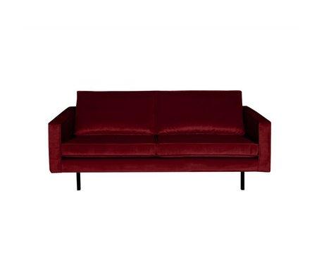 BePureHome Sofa Rodeo 2.5 seater red velvet 190x86x85cm