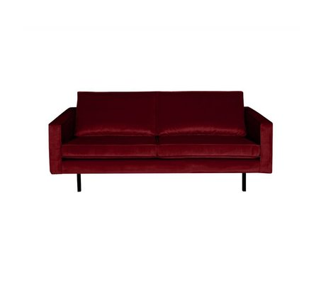 BePureHome Sofa Rodeo 2,5-Sitzer rot Samt 190x86x85cm