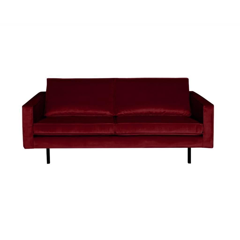 Sofa Rodeo 2.5 seater red velvet 190x86x85cm