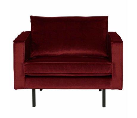 BePureHome Lænestol Rodeo rød fløjl 105x86x85cm