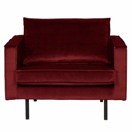 BePureHome Armchair Rodeo red velvet 105x86x85cm