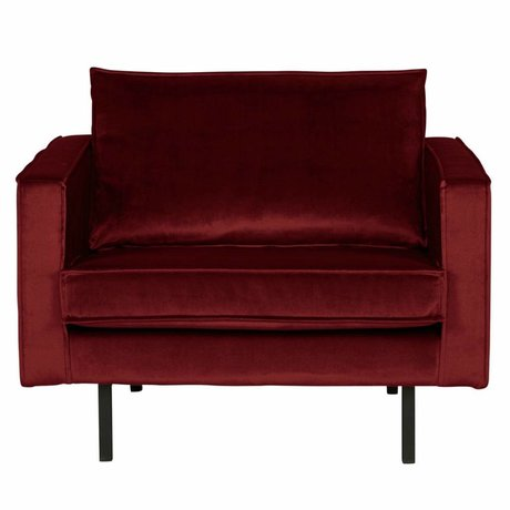 BePureHome Sessel Rodeo rot Samt 105x86x85cm