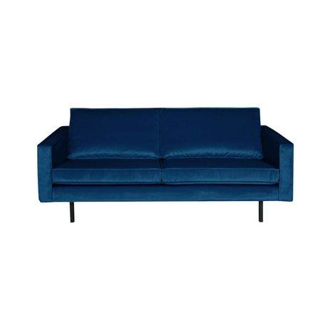 BePureHome Sofa Rodeo 2,5-seter Natshade mørkeblå fløjl 190x86x85cm