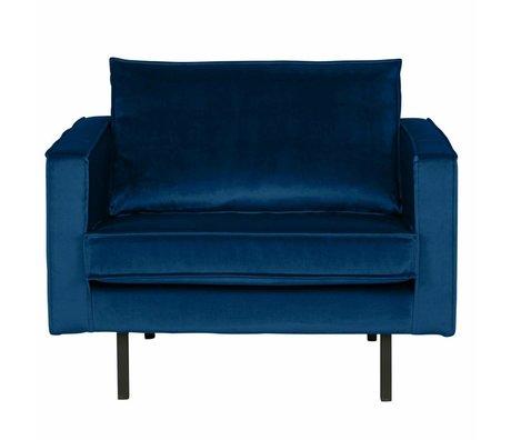 BePureHome Fauteuil Rodeo Nightshade velours bleu foncé 105x86x85cm