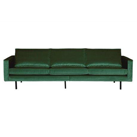 BePureHome Sofa Rodeo 3 seter Grøn skovgrøn velvet 85x277x86cm