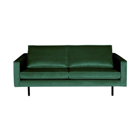 BePureHome Bank Rodeo 2,5 places velours velours vert Green Forest 190x86x85cm