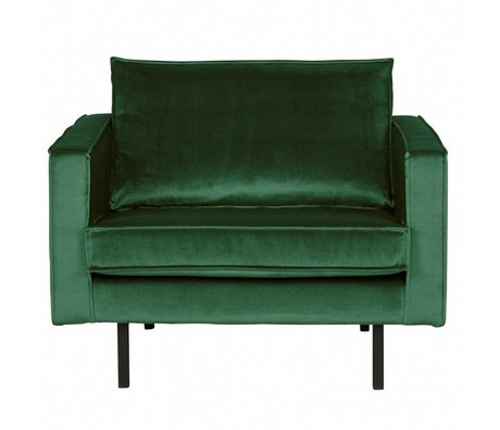 BePureHome Fauteuil Rodeo Green Forest vert velours 105x86x85cm