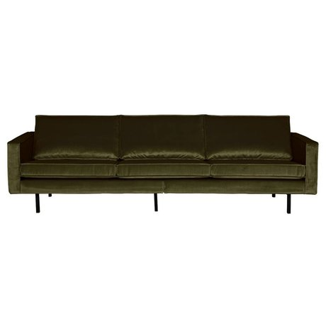 BePureHome Sofa Rodeo 3-Sitzer Green Hunter grün Samt 85x277x86cm