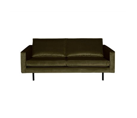 BePureHome Canapé Rodeo 2.5 places vert chasseur vert velours 190x86x85cm