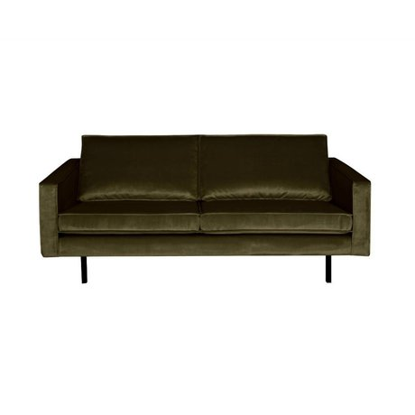BePureHome Sofa Rodeo 2.5 seater green hunter green velvet 190x86x85cm