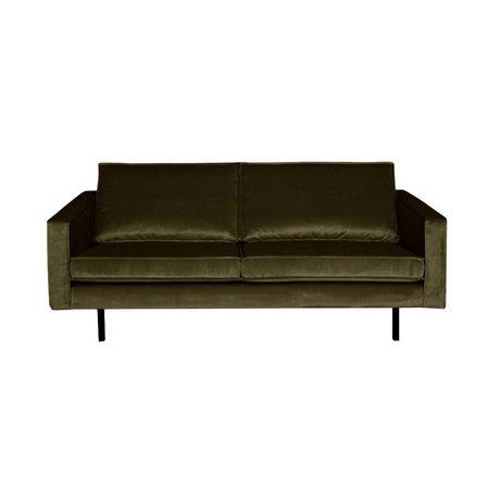 BePureHome Sofa Rodeo 2,5-Sitzer Green Hunter grün Samt 190x86x85cm