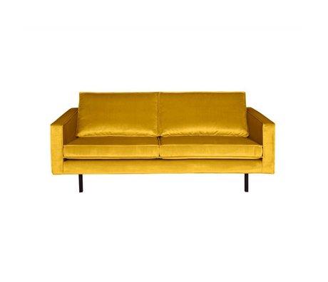 BePureHome Divano Rodeo velluto giallo ocra da 2,5 posti 190x86x85cm