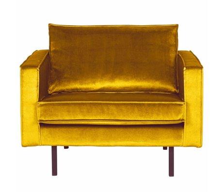 BePureHome Lænestol Rodeo oker-gul fløjl 105x86x85cm