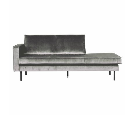BePureHome Sofa Daybed links mittelgrau Samt 203x86x85cm