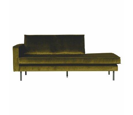 BePureHome Sofa Daybed venstre oliven grøn fløjl 203x86x85cm