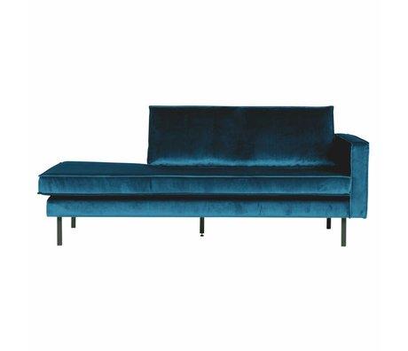 BePureHome Canapé lit de repos velours bleu droit 203x86x85cm