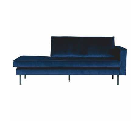 BePureHome Canapé Daybed droit Nightshade velours bleu foncé 203x86x85cm