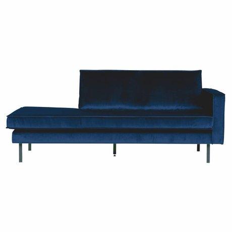 BePureHome Divano Daybed destra Nightshade velluto blu scuro 203x86x85cm