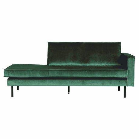 BePureHome Sofa Daybed højre Green Forest Green Velvet 203x86x85cm