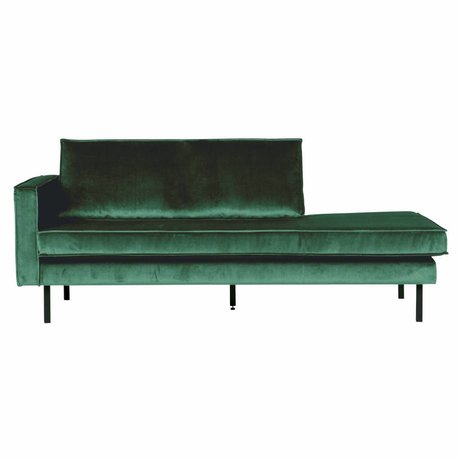 BePureHome Sofa Daybed links Green Forest grün Samt 203x86x85cm