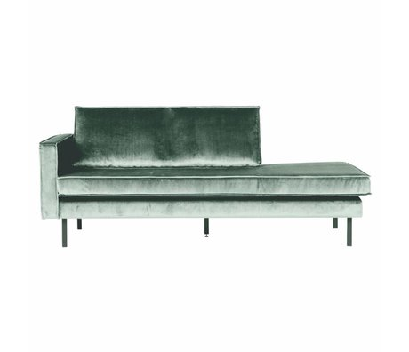 BePureHome Sofa Daybed links mintgrün Samt 203x86x85cm