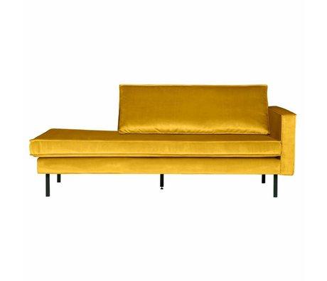 BePureHome Sofá sofá cama terciopelo ocre amarillo 203x86x85cm